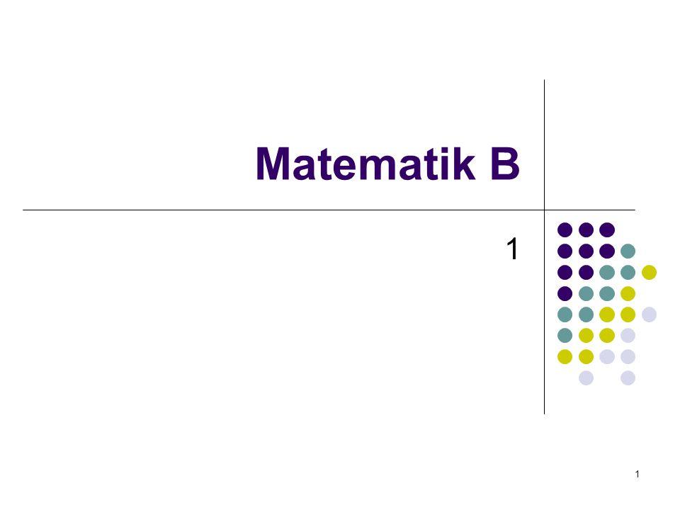 Matematik B 1
