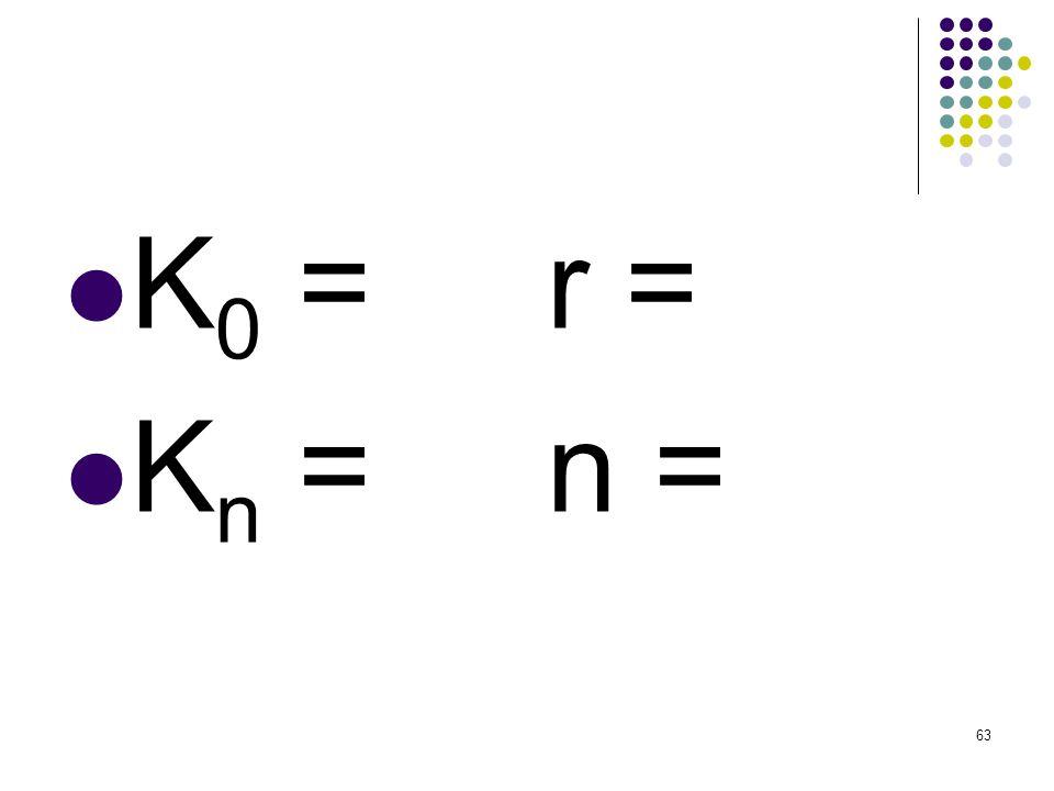 K0 = Kn = r = n =