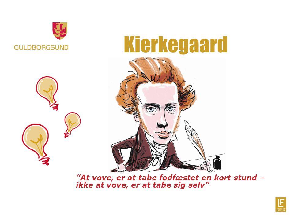 Kierkegaard At vove, er at tabe fodfæstet en kort stund – ikke at vove, er at tabe sig selv