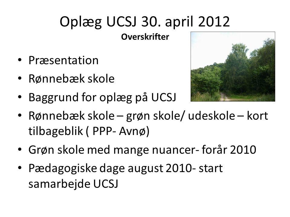 Oplæg UCSJ 30. april 2012 Overskrifter