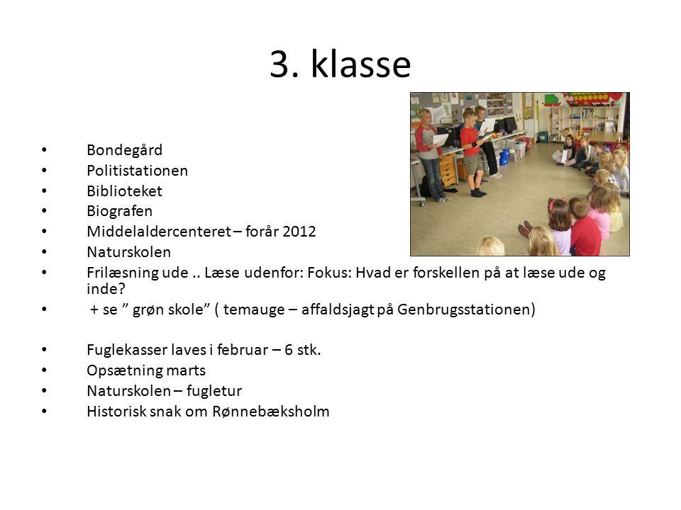 3. klasse Bondegård Politistationen Biblioteket Biografen