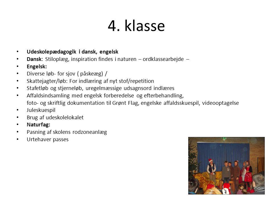 4. klasse Udeskolepædagogik i dansk, engelsk