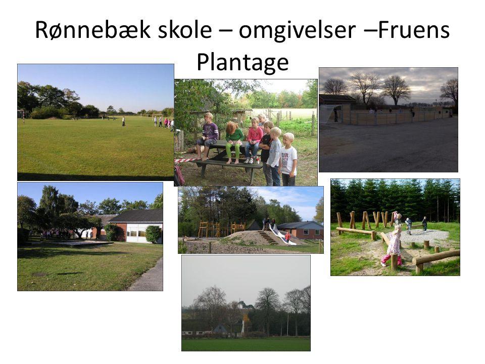 Rønnebæk skole – omgivelser –Fruens Plantage