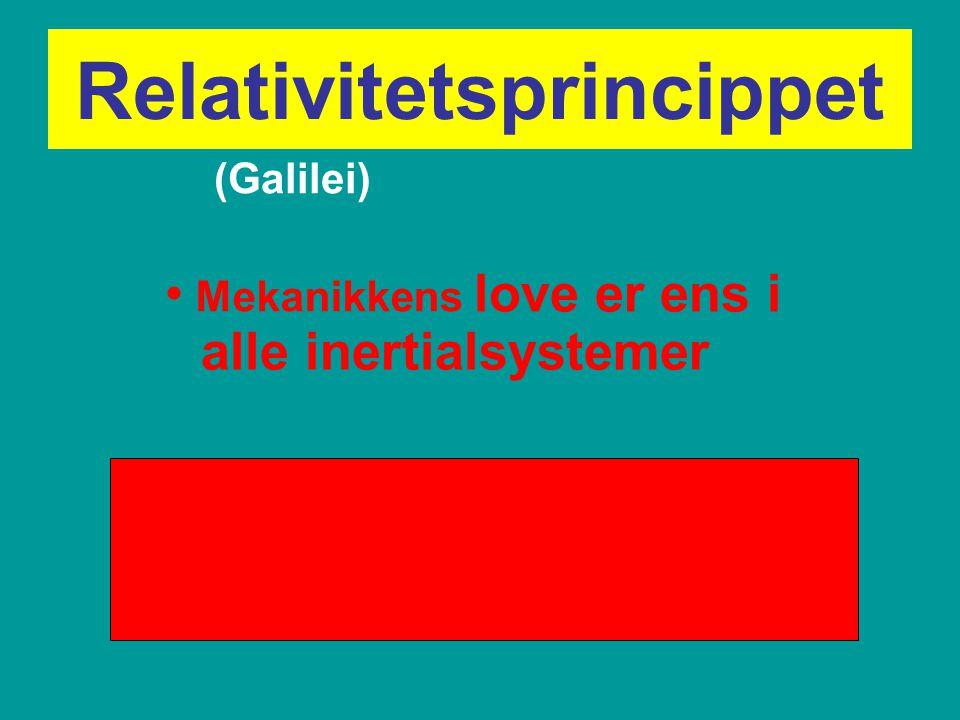 Relativitetsprincippet