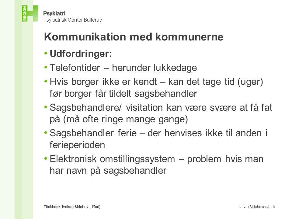 Kommunikation med kommunerne