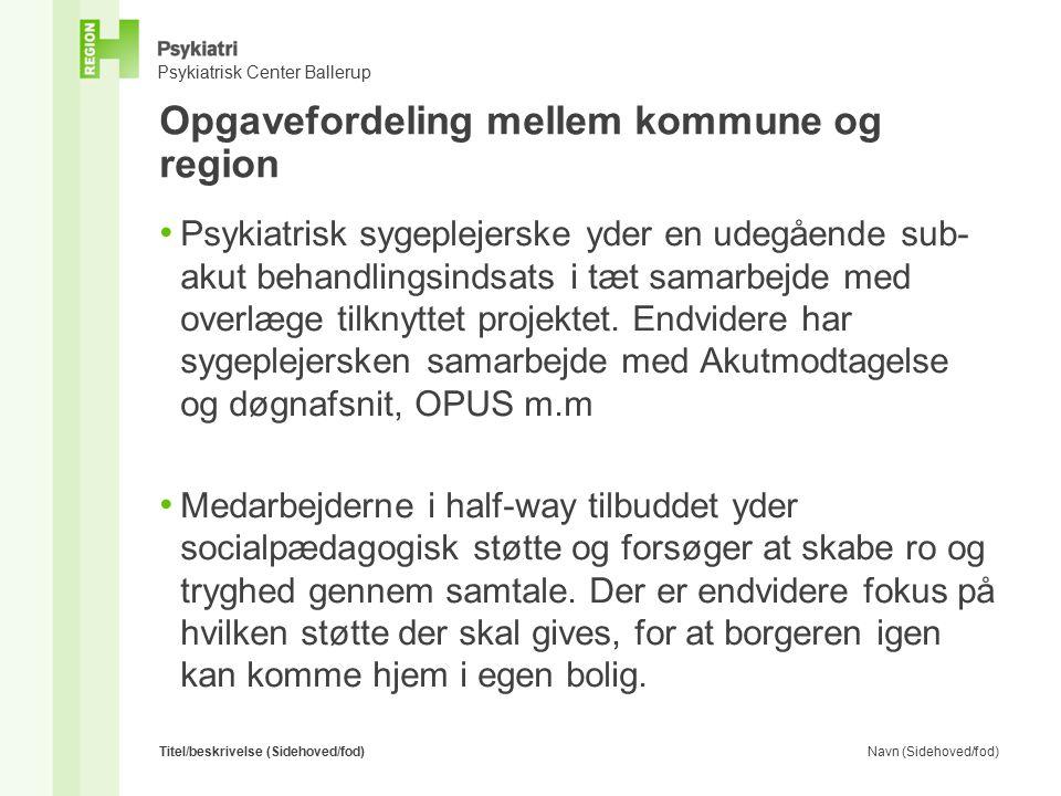 Opgavefordeling mellem kommune og region
