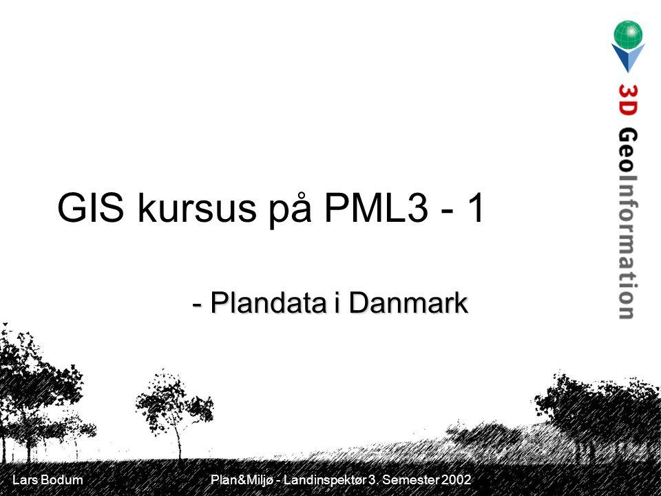 GIS kursus på PML3 - 1 - Plandata i Danmark