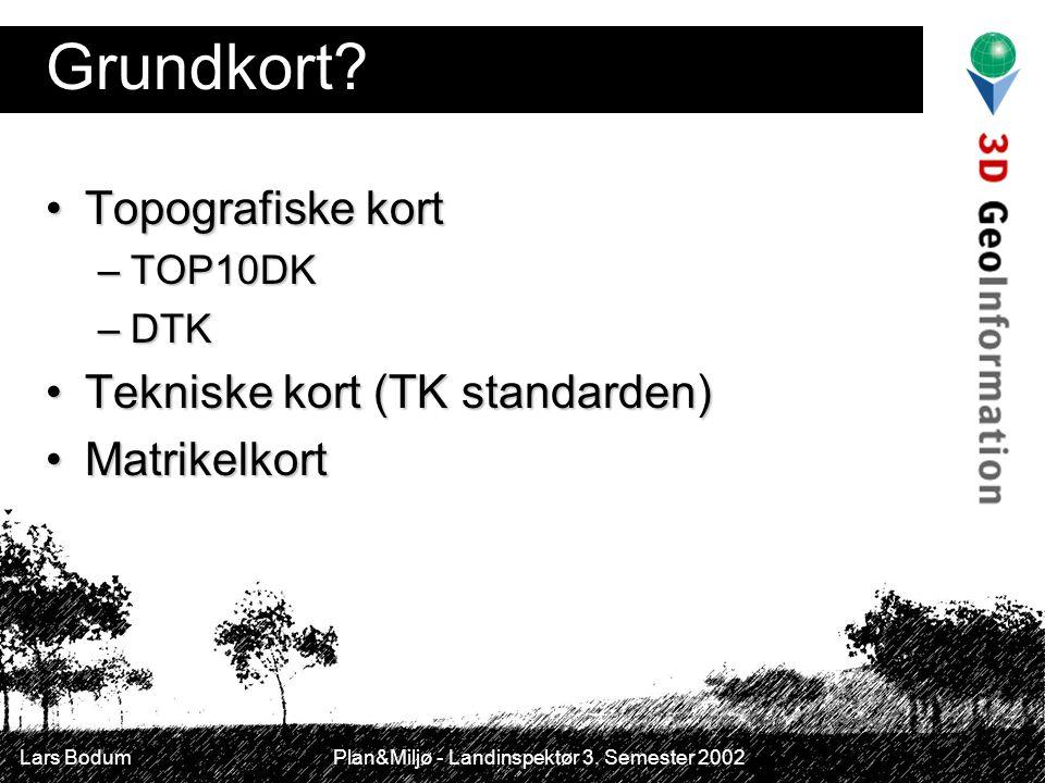 Grundkort Topografiske kort Tekniske kort (TK standarden)