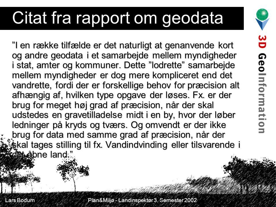 Citat fra rapport om geodata