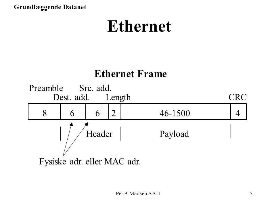 Fysiske adr. eller MAC adr.