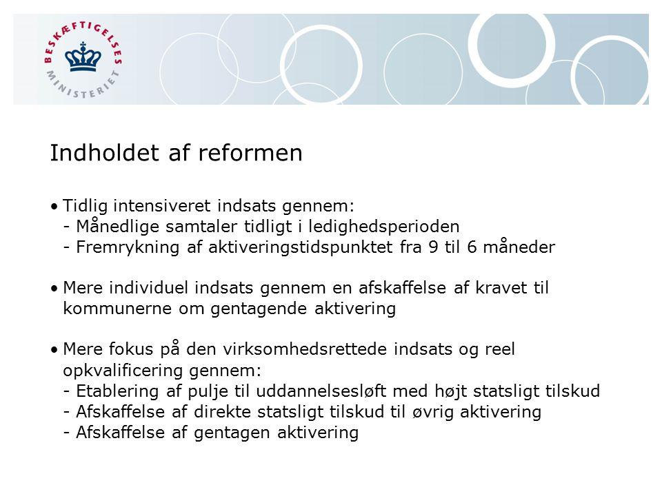 Indholdet af reformen
