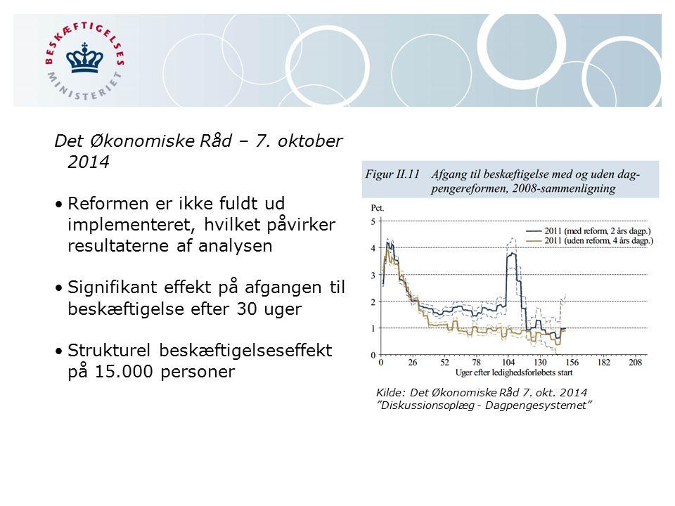 Det Økonomiske Råd – 7. oktober 2014