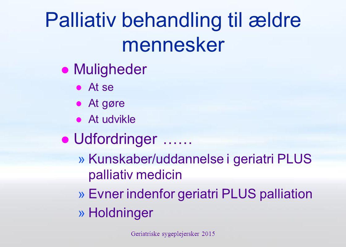 Palliativ behandling til ældre mennesker