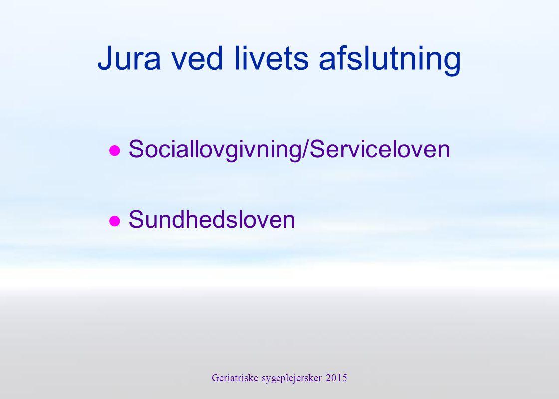 Jura ved livets afslutning