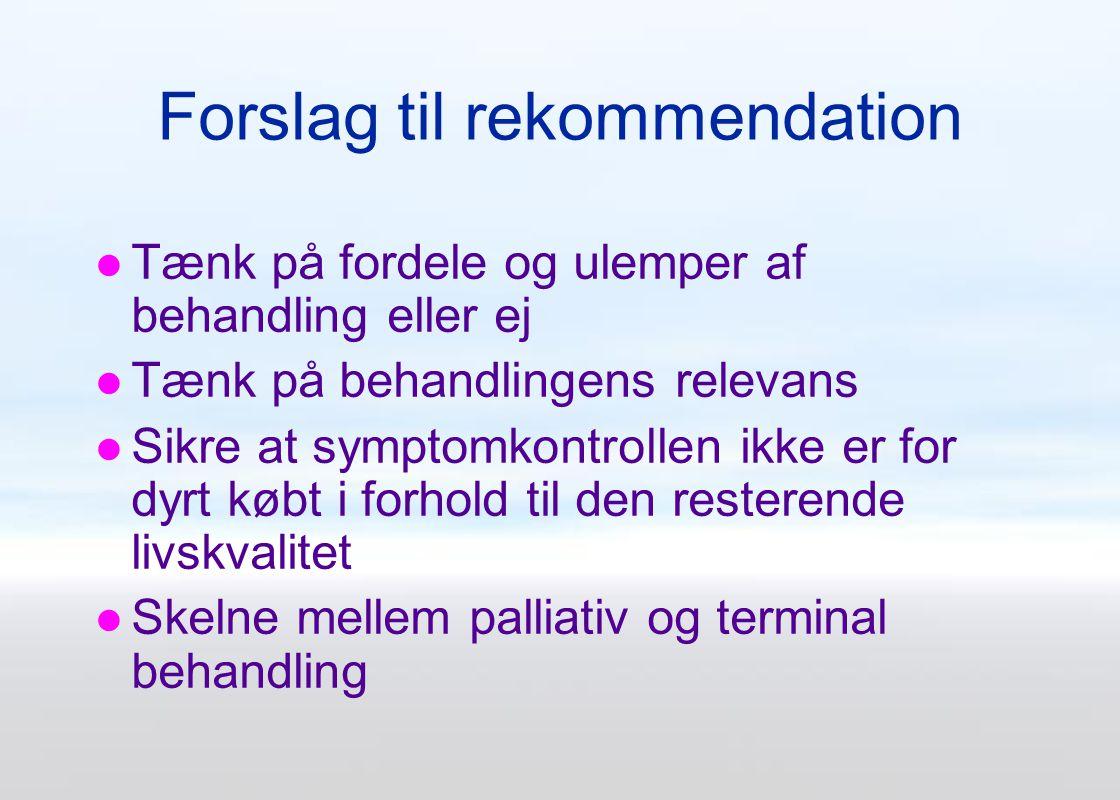 Forslag til rekommendation
