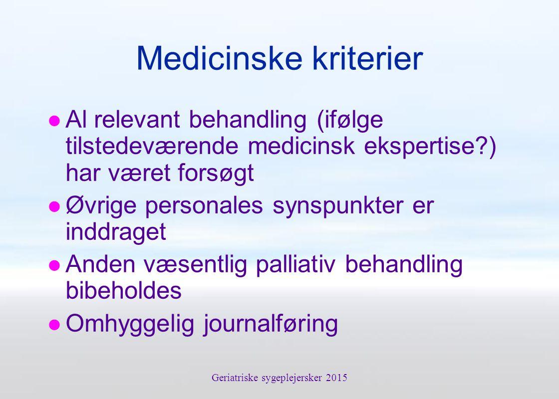 Geriatriske sygeplejersker 2015