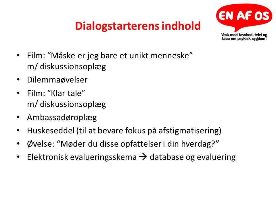 Dialogstarterens indhold