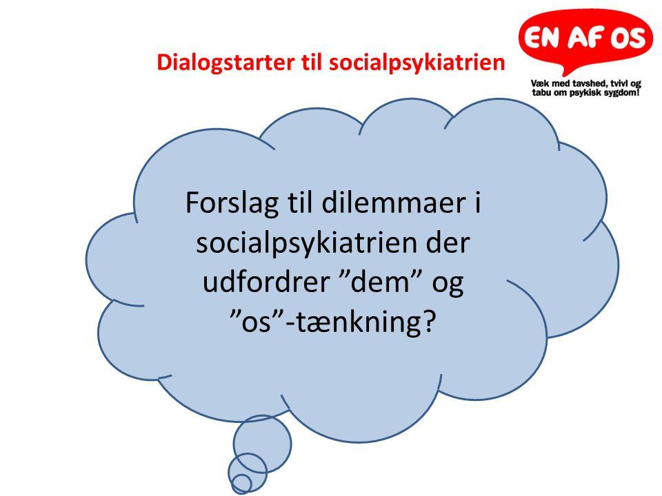 Dialogstarter til socialpsykiatrien