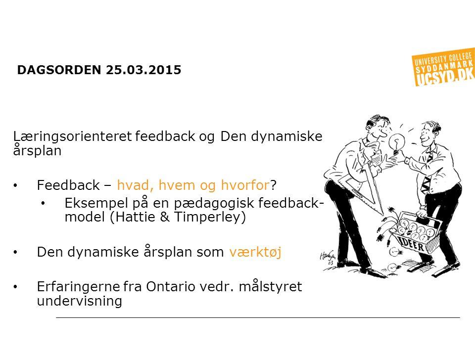 Læringsorienteret feedback og Den dynamiske årsplan