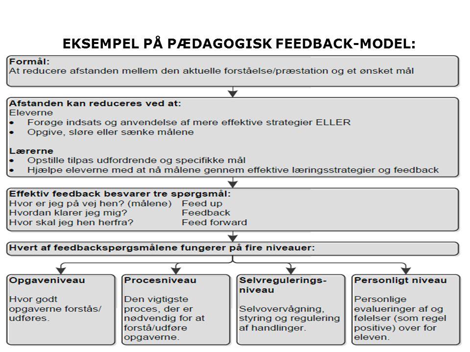 EKSEMPEL PÅ PÆDAGOGISK FEEDBACK-MODEL: