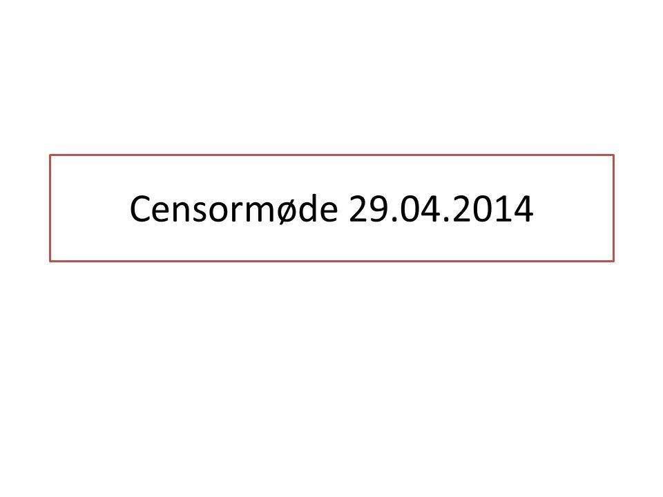 Censormøde 29.04.2014