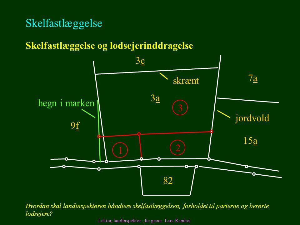 Skelfastlæggelse Skelfastlæggelse og lodsejerinddragelse 3c 7a skrænt