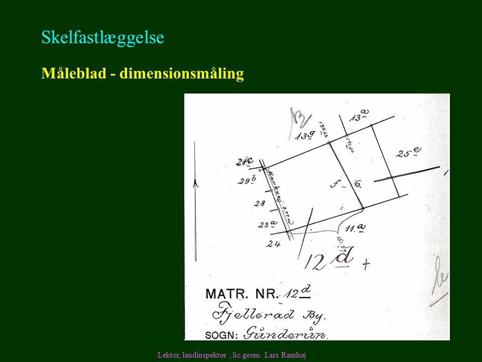 Skelfastlæggelse Måleblad - dimensionsmåling