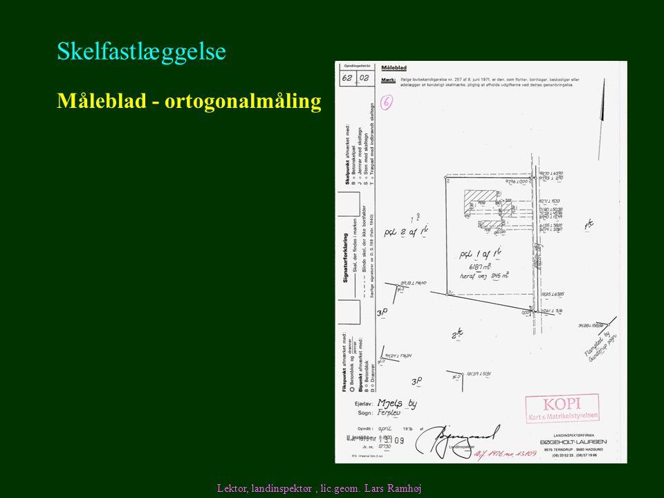 Skelfastlæggelse Måleblad - ortogonalmåling