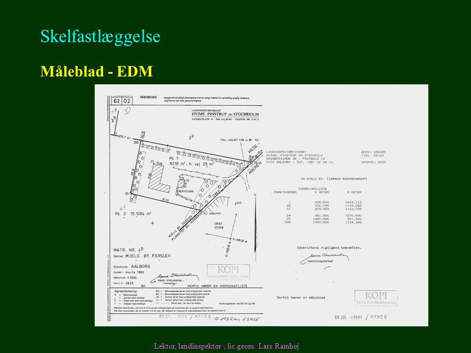 Skelfastlæggelse Måleblad - EDM