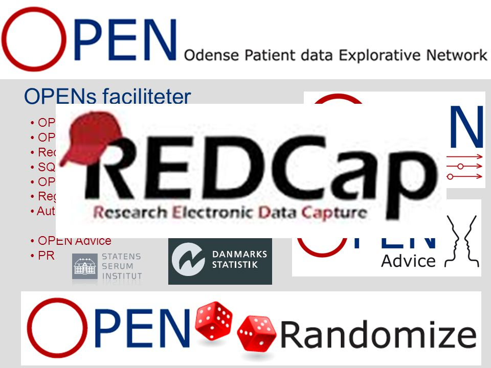 OPENs faciliteter OPEN Projects - Biobank OPEN Projects - Database