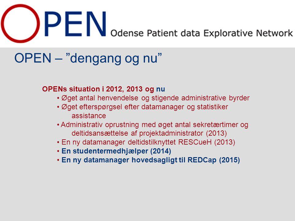 OPEN – dengang og nu OPENs situation i 2012, 2013 og nu