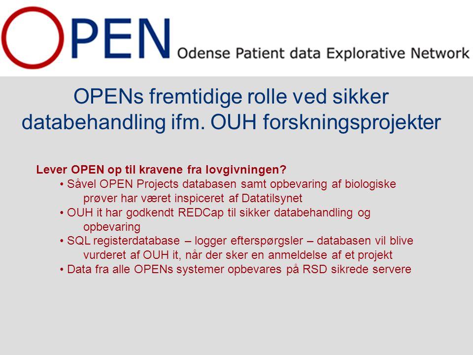 OPENs fremtidige rolle ved sikker databehandling ifm