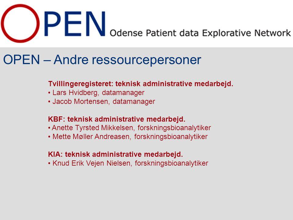 OPEN – Andre ressourcepersoner