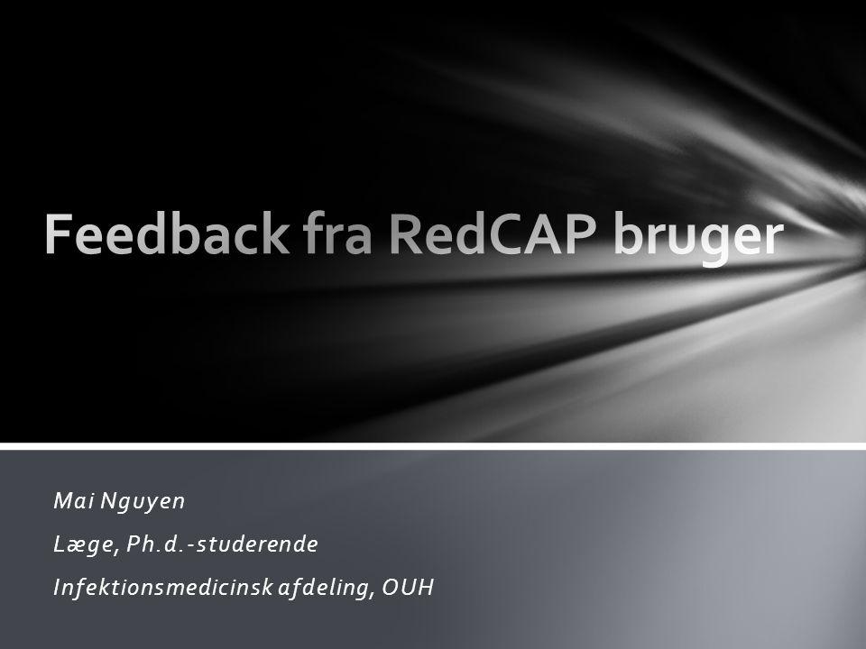 Feedback fra RedCAP bruger