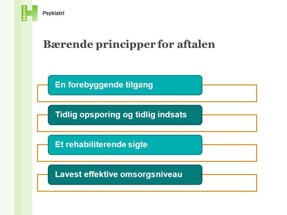 Bærende principper for aftalen