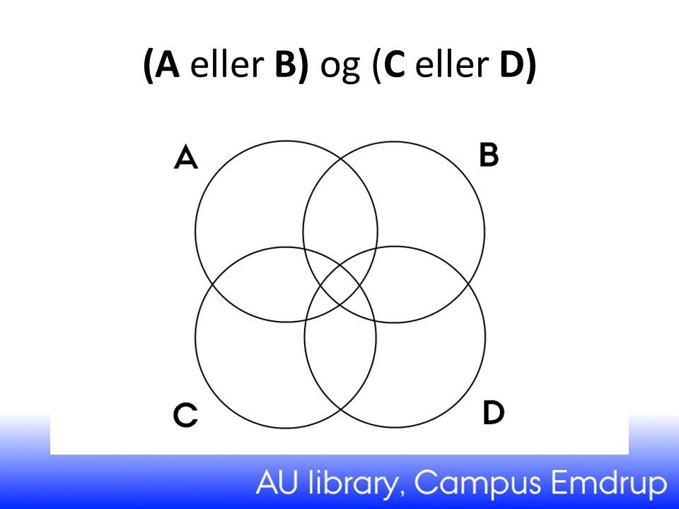 (A eller B) og (C eller D)