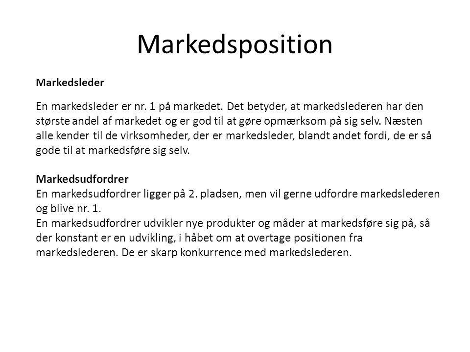 Markedsposition Markedsleder.