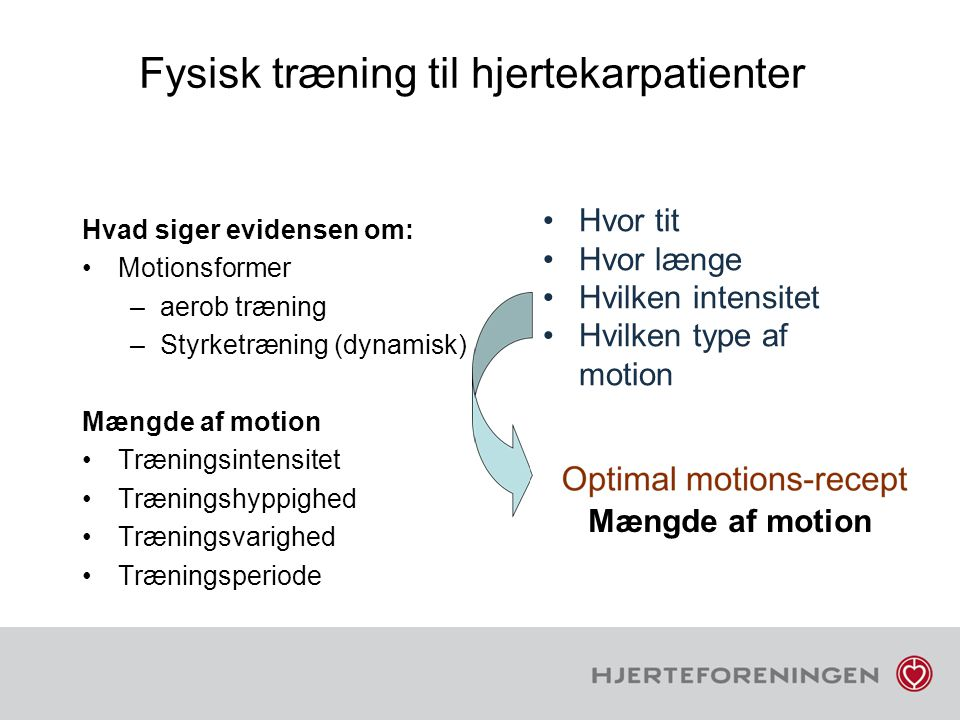 Fysisk træning til hjertekarpatienter