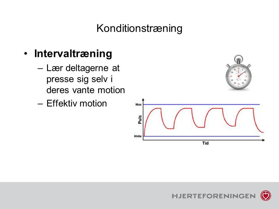 Konditionstræning Intervaltræning