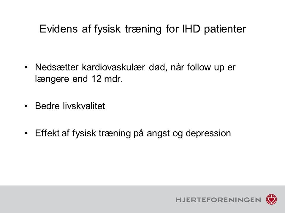 Evidens af fysisk træning for IHD patienter