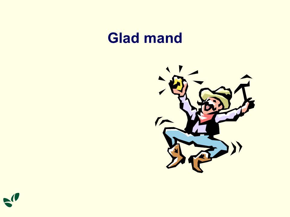 Glad mand