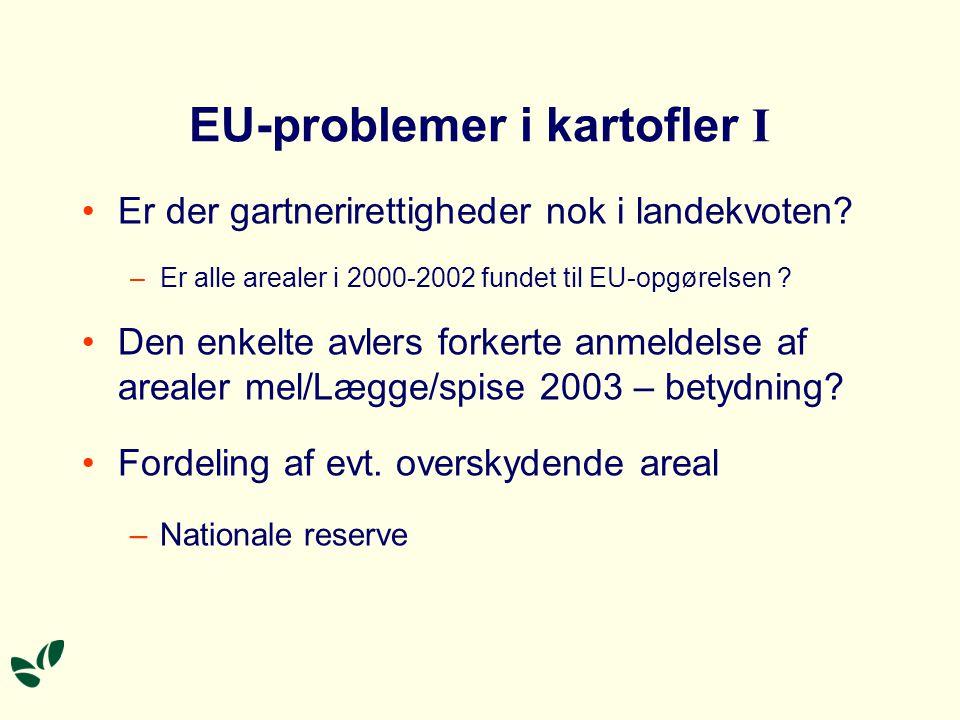 EU-problemer i kartofler I