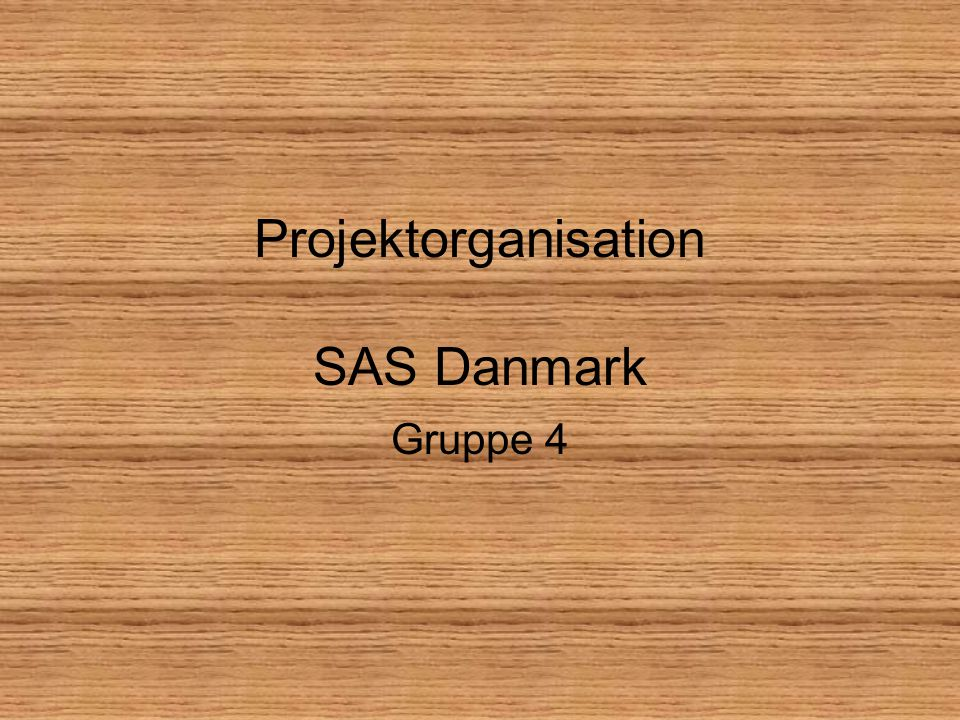 Projektorganisation SAS Danmark