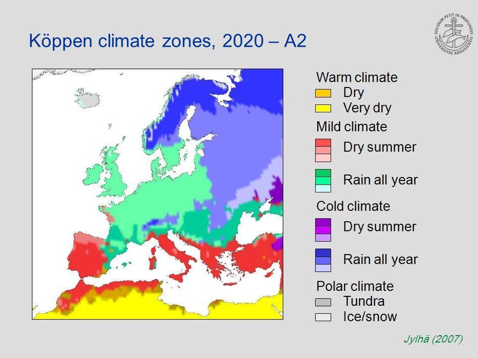 Köppen climate zones, 2020 – A2