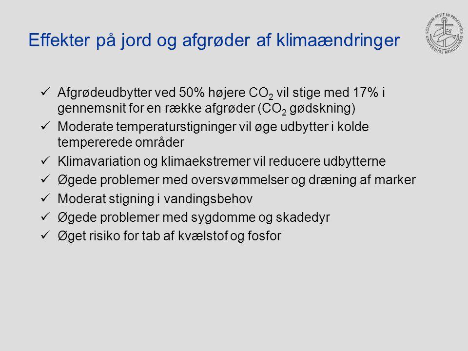 Effekter på jord og afgrøder af klimaændringer