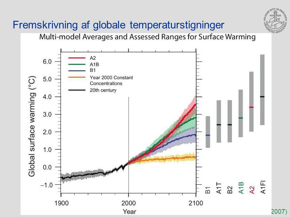 Fremskrivning af globale temperaturstigninger