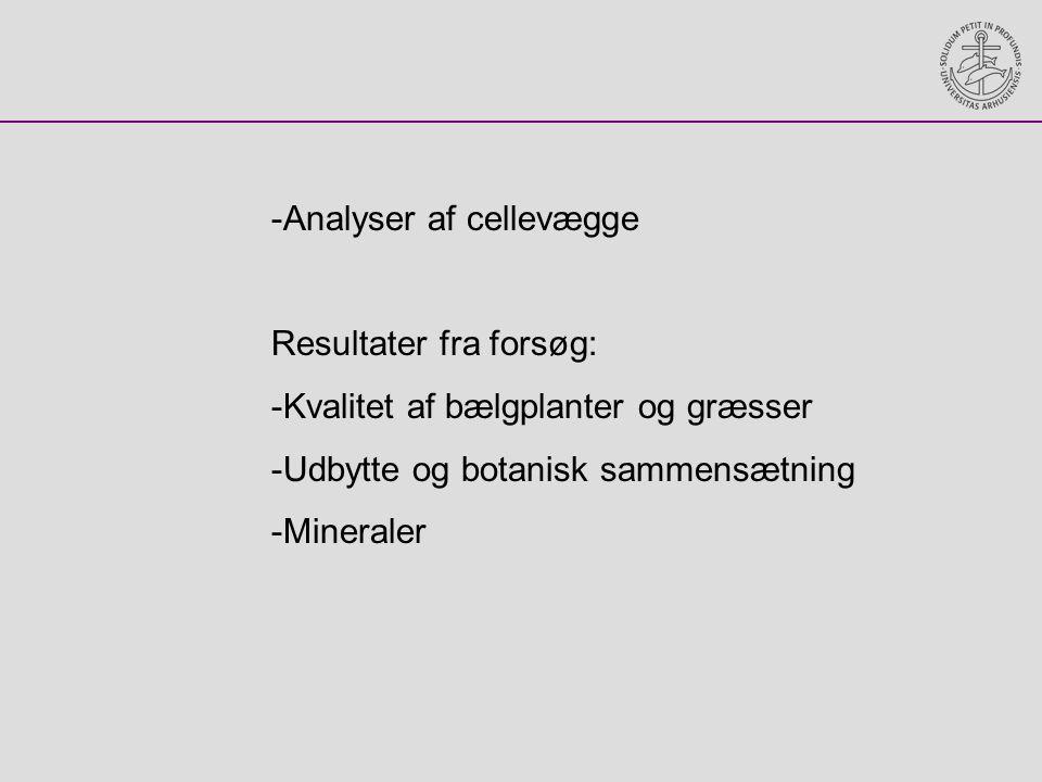 Analyser af cellevægge