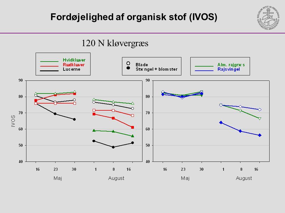Fordøjelighed af organisk stof (IVOS)