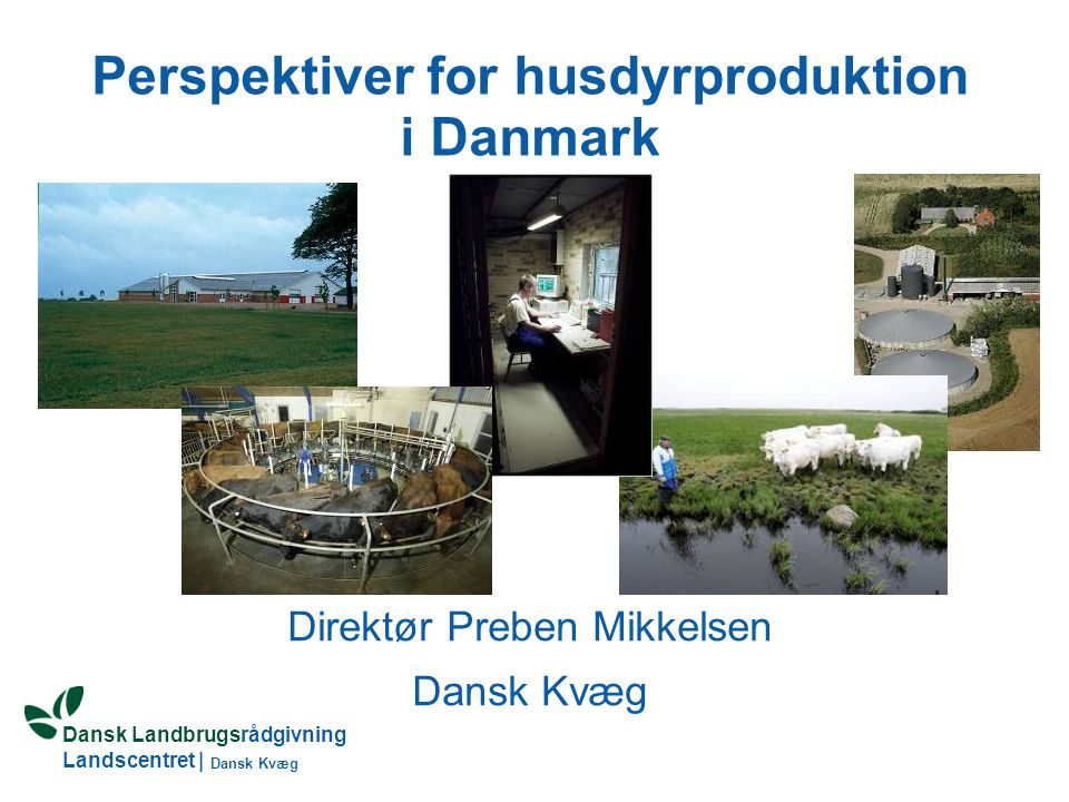 Perspektiver for husdyrproduktion i Danmark