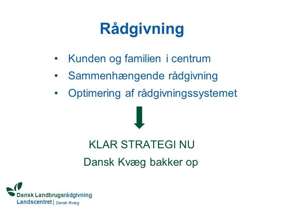 Rådgivning Kunden og familien i centrum Sammenhængende rådgivning